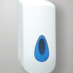 Dispensadores de jabón modulares en azul